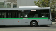 Stock Video Footage of transperth bus leaves bus stop, perth australia