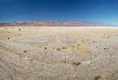Lifeless landscape of the death valley Stock Photos