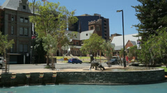 Stirling gardens and english church, perth, australia Stock Footage