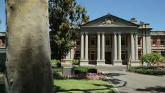 Pan of the perth courthouse and supreme court building of western australia Stock Footage