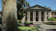 Stock Video Footage of pan of the perth courthouse and supreme court building of western australia