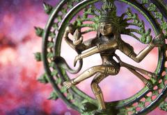 Statue of shiva - lord of dance Stock Photos
