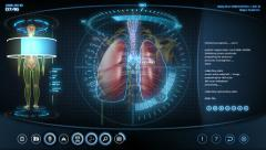 Futuristic lungs scan Stock Footage