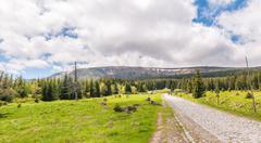 The karkonosze national park Stock Photos