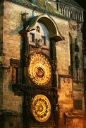 Old prague astronomical clock Stock Photos