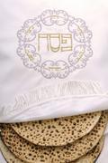 bag of passove embroidered matzo - stock photo