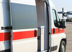 Emergency ambulance Stock Photos