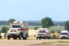 emergency ambulance - stock photo