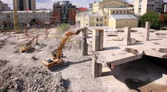 urban renewal in the city centre - stock photo
