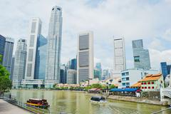 Riverside of singapore Stock Photos