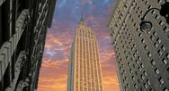Stock Photo of Sunset over Empire State Building, U.S.A.