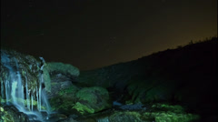 Timelapse night at the torrent Stock Footage