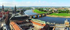Dresden panorama Stock Photos