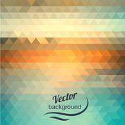 abstract geometric background of the triangles - stock illustration