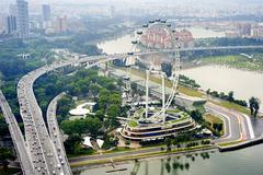 Singapore flyer Stock Photos