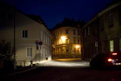 Stock Photo of vilnius street at night