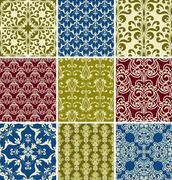 Stock Illustration of vector seamless  floral patterns