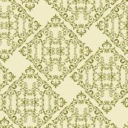 vector vintage seamless  floral pattern - stock illustration