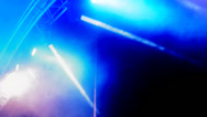 Stock Video Footage of concert reflector lights blue colours