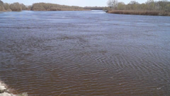 In March, the river Desna Stock Footage