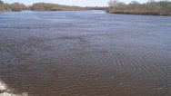 Stock Video Footage of in March, the river Desna