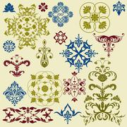 Stock Illustration of vector  vintage floral bright  design elements