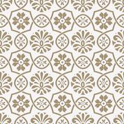 Stock Illustration of vector seamless paper cut  floral pattern, indian style