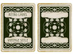 vector vintage card - stock illustration