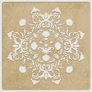 Stock Illustration of vector card with retro flower