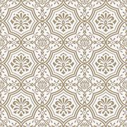 vector seamless paper cut  floral pattern, indian style - stock illustration