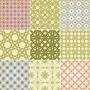 Stock Illustration of set of nine vector seamless patterns