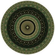 vector ornamental round floral pattern, indian style - stock illustration