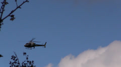 Helicopters Sheriff, Police, blue sky Stock Footage