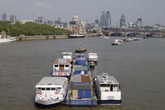 London. England. River Thames - stock photo