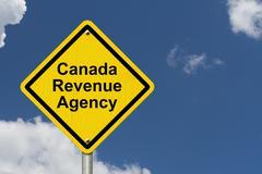 canada revenue agency warning sign - stock illustration