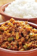 picadillo, traditional dish in many latin american countries - stock photo