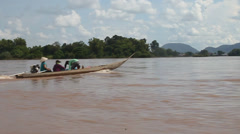Boat ferry on Mekong Stock Footage