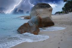 Storm approaching Lamui Beach in Koh-Samui Stock Photos