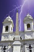 Trinita' dei Monti, Rome, Italy - stock photo