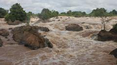 Tat Somphamit (Li Phi falls) Stock Footage