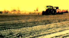 Tractor sowing Stock Footage