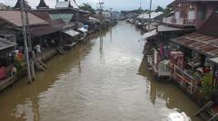 Ampahwa floating market Stock Footage