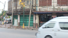 Street full of monkeys Stock Footage