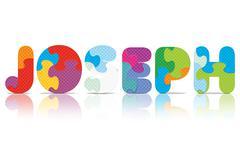 Vector joseph written with alphabet puzzle Stock Illustration