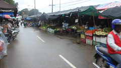 People on local market in Mae Hong Son Stock Footage