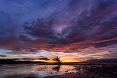 spectacular stormy sunset in the philippines - stock photo