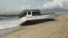 Boat Aground Stock Footage