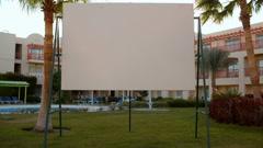 Blank screen on resort - stock footage