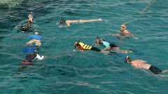 People swimming in the sea Stock Footage