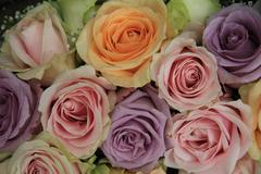 soft pink wedding arrangement - stock photo